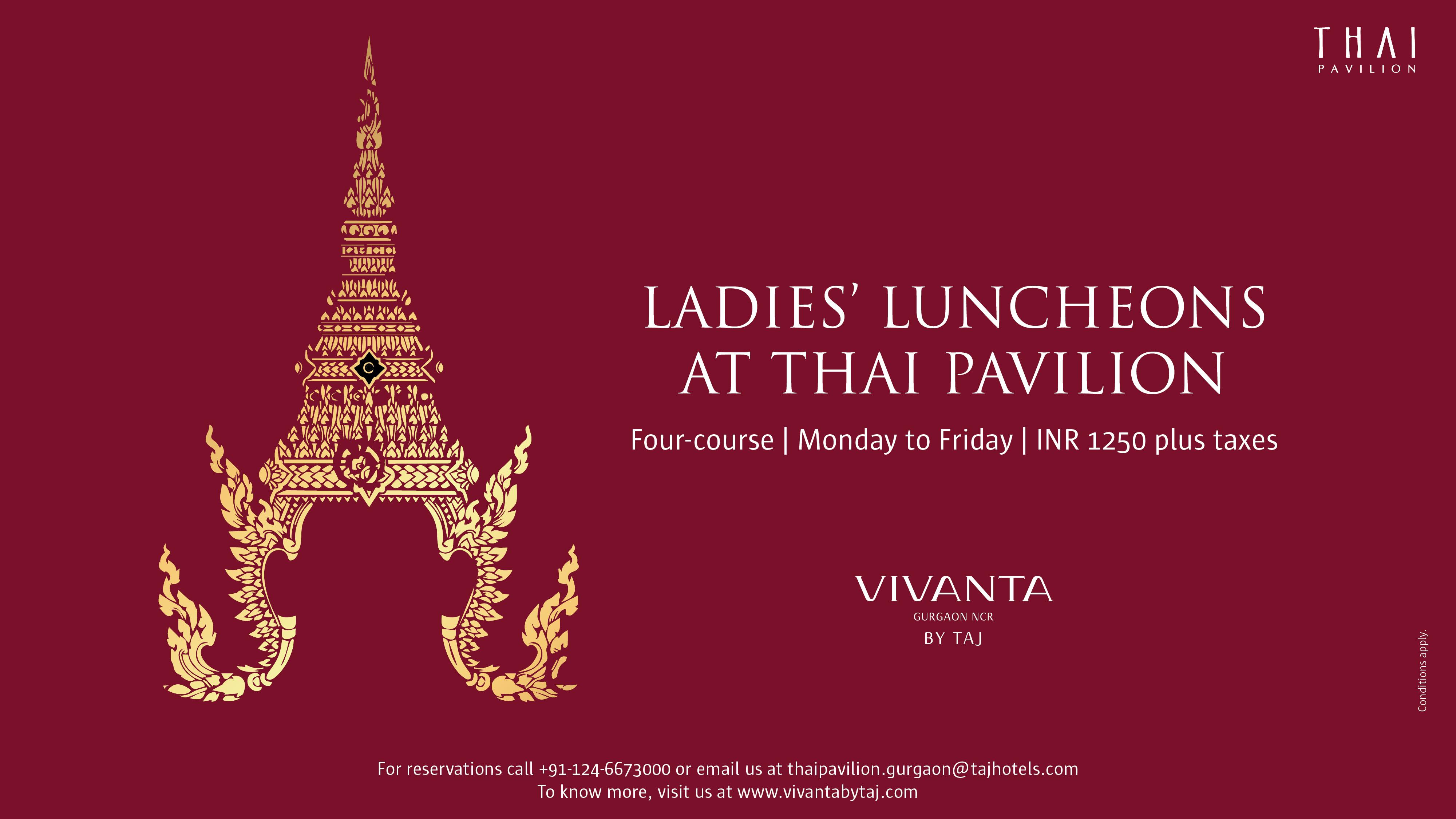Ladies' Luncheons at Thai Pavilion