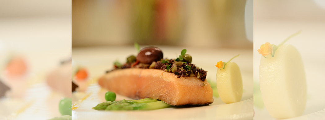 Tapenade Crusted Atlantic Salmon