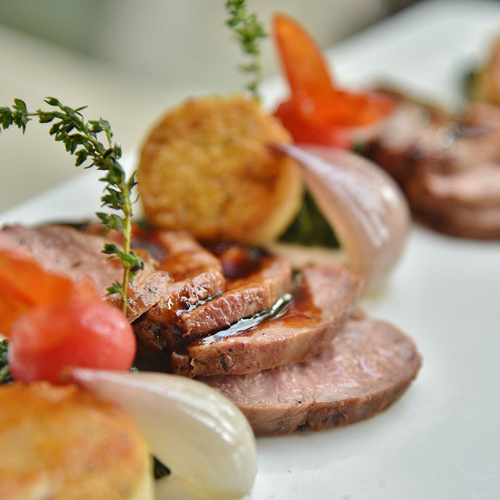 Duck With Honey And Coriander Sauce
