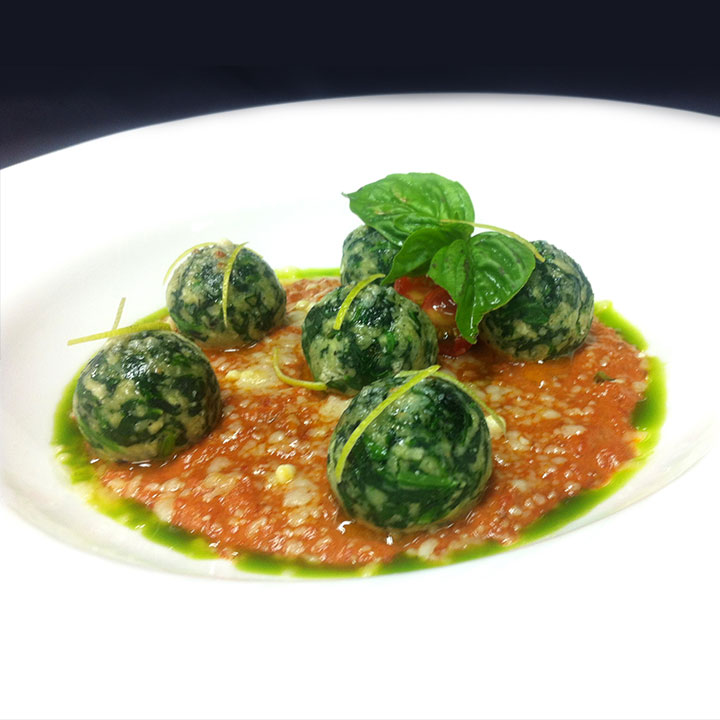 Spinach and Ricotta Dumpling