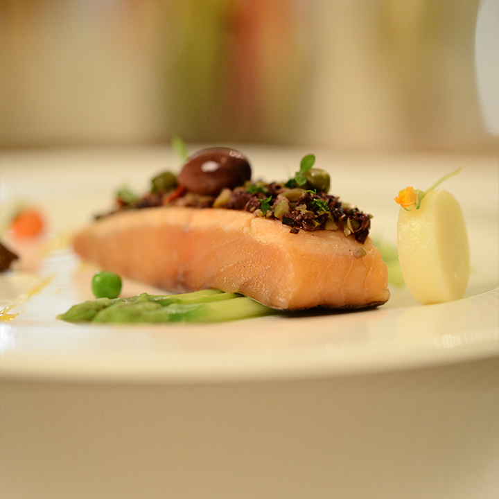 Tapenade Crusted Atlantic Salmon
